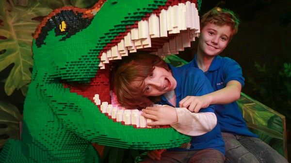 Lego Land's new Dino Explorer exhibit in Mesa, Arizona