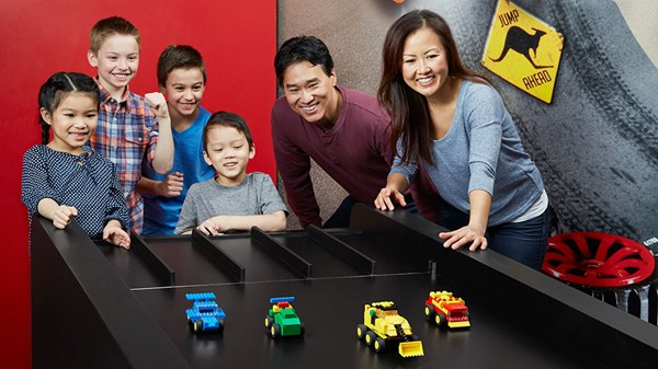 Racing cars at Lego Land in Mesa, Arizona