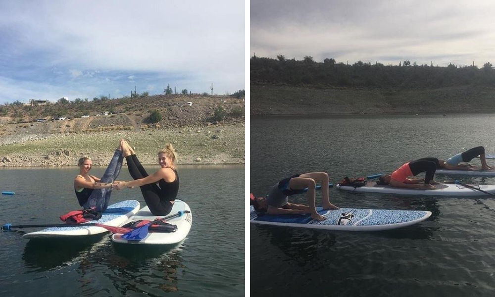 Paddleboard yoga in Arizona