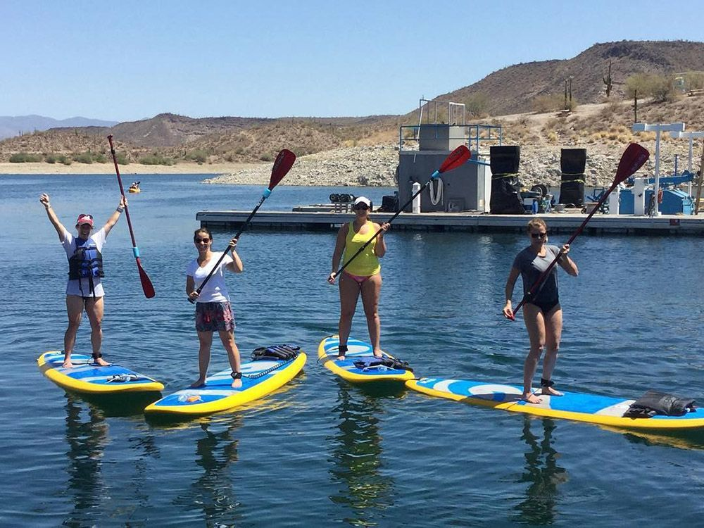 Learn how to paddleboard in Arizona