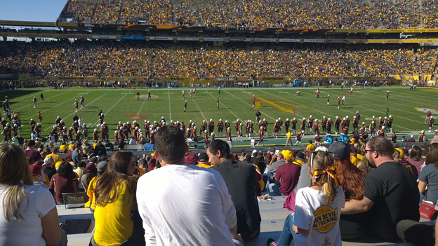 Football game with the Arizona State Sun Devils