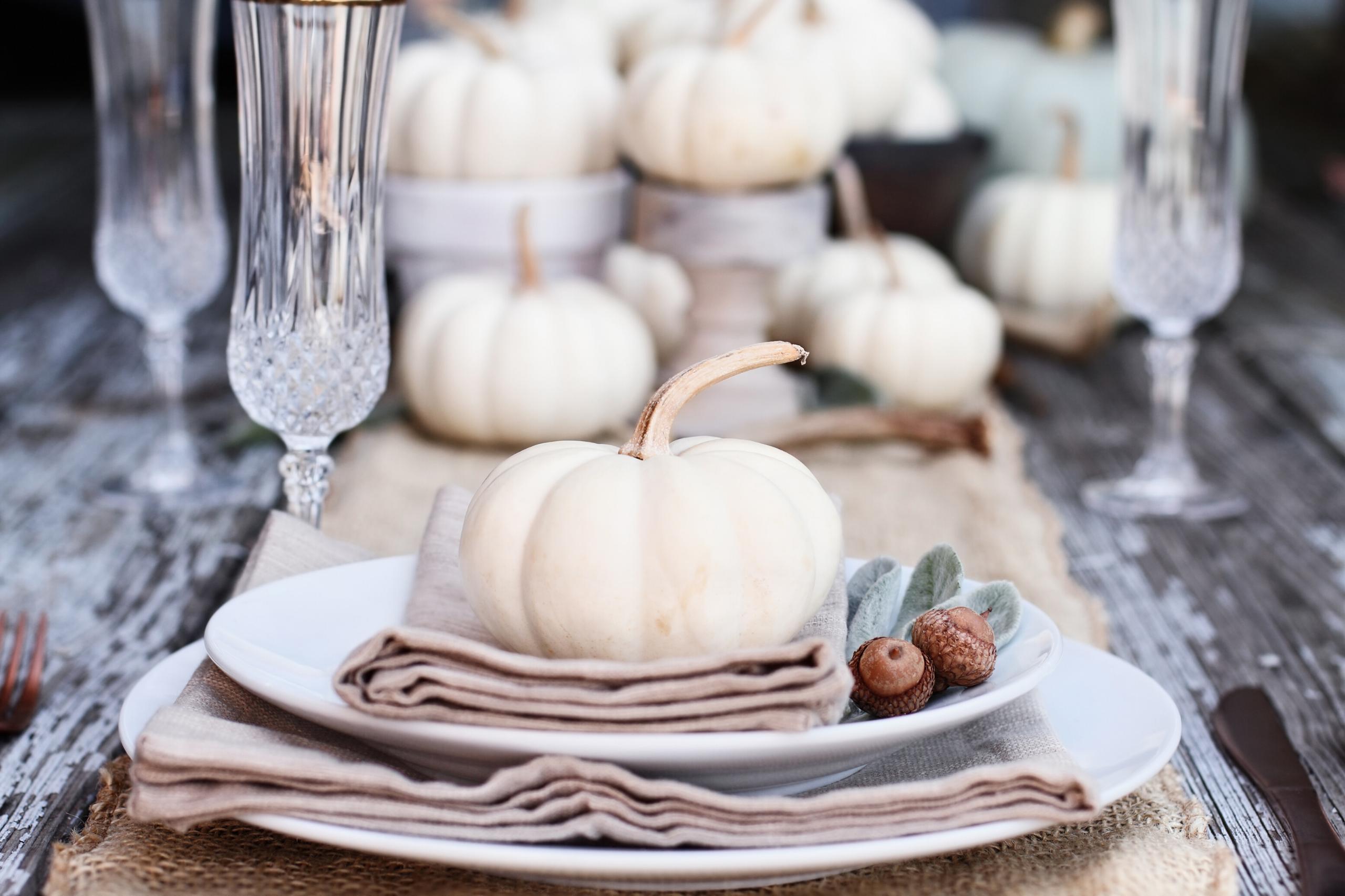 Thanksgiving pumpkin centerpeice