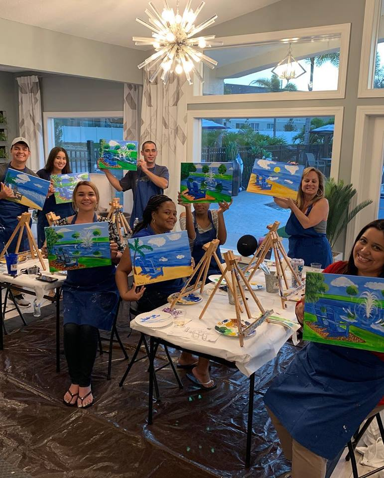 Apartment community paint night